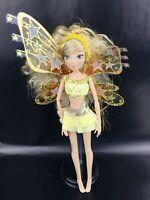 Winx Club Stella Believix 2 Power Ball Fairy Doll Yellow Wings Gold