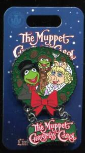 Muppet Christmas Carol Cratchit Family Kermit Miss Piggy LE Disney Pin 137647