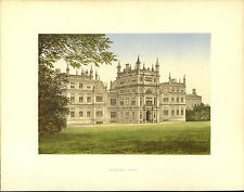 A Charming ANTIQUE print of CORSHAM COURT Country House WILTSHIRE Lord Methuen