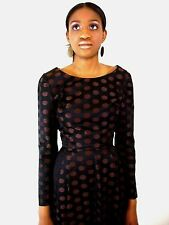 Auth True Vintage 50s Polka Dot Midi Dress