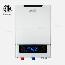18KW/240V LED Touch Electric Tankless Hot Instant Water Heater White GPM