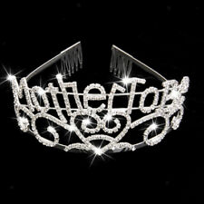 Mother To Be Tiara baby shower Mom Sparkling Rhinestone Crown Accessory