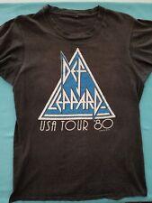 "Def Leppard    ""On Through The Night""  T-Shirt    1980 1st World Tour   Vintage"
