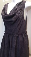 Anthropologie Ric Rac Plum Small Women's  Cowlneck Sleeveless Dress NWT $118