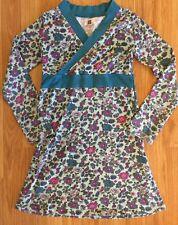 Tea Dress Size 8 Floral Teal Blue Pink