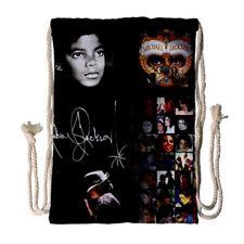 Michael Jackson Forever Michael MJ Drawstring Backpack Sack Pack Gym Bag Gift