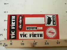 STICKER,DECAL VIC FIRTH DRUM STICKS PITCH PAIRED USA  SHEET 6 STICKERS