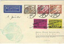 Germany 1933 Rocket Mail cover Hasselfelde to Hamburg
