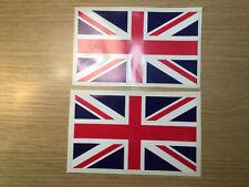 X2 UK British GB Union Jack Flags Vinyl Sticker Decal Exterior Grade 110x65mm