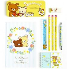 Rilakkuma Stationery Set Cute School Supplies Gift 7 Piece Pencil Ruler Note