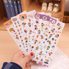 6sheet Cute Sheep cap Girl  Diary calendar Filofax Decoration Point  Stickers