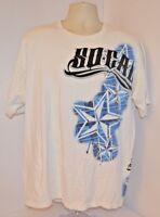 VTG 90s No Fear SO CAL White T-Shirt Blue Star Graphic Surf Skate Punk Mens XL