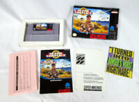Rare SUPER CONFLICT Complete 8 MEG Nintendo 16 BIT SNES Manual, Box, Video Game