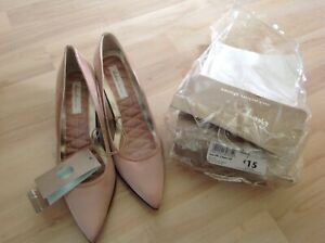 BNWT George Collection Occasion ladies lovely nuetral satin court shoes size 5