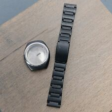 VERY RARE VINTAGE BLACK ORIENT AUTOMATIC Racer Day Date Case w/ Band Parts
