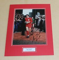 RON YEATS In Liverpool Shirt Genuine HAND SIGNED Autograph Photo Mount + COA