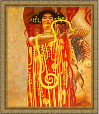 Hygeia from Medicine by Gustav Klimt 85cm x 73cm Framed Ornate Gold