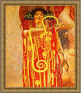 Hygeia from Medicine by Gustav Klimt 85cm x 73cm Framed Ornate Gold