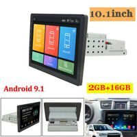 1 Din Car Stereo Radio Android 9.1 10.1 Inch Touch Screen MP5 Player GPS Wifi