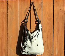 """Lulo Texas spotted cowhide bag - retail $140! - """"Bolso Tagua"""" BRIGHT RED liner"""