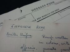 WW2 (1944) Allied Forces HQ Intelligence Handwritten Notes on JAPANESE SOLDIERS