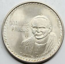 MEXICO JUAN PABLO II 1979 MEDALLA PLATA SC