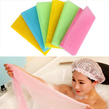 New Exfoliating Nylon Bath Shower Body Cleaning Wash Scrubbing Towel Scrubbers