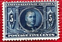 US Stamps SC#326 5c William McKinley Used Well Centered CV:$22.5