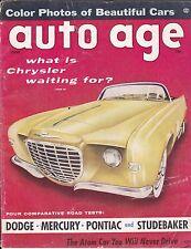 JUNE 1956 AUTO AGE MAGAZINE - CHRYSLER FALCON ON COVER