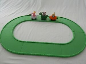 PEPPA PIG , REBECCA RABBIT AND GEORGE VEHICLES WITH 6 PIECE ROAD TRACK