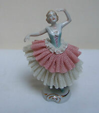 "Unterweissbach Dresda Irlanda pizzo Figure Statuetta Ballerina Ballerina 4.75"""