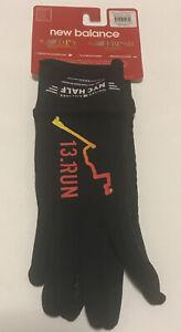 New Balance TCS New York City Marathon Running Texting Gloves Black S NWT