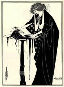 Salome 1894 Vintage Aubrey Beardsley Rolled Canvas Giclee Print 18x24 in.
