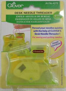 Clover Desk Needle Threader GREEN, Thread Your Needles Quickly