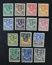 Ckstamps: Gb Northern Rhodesia Stamps Collection Scott#1-14 Mint H Og