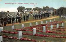 Soldiers Home California Memorial Day Cemetery Antique Postcard J44201