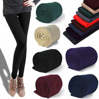Women Winter Thermal Thick Warm Fleece lined Skinny Slim Legging Stretch Pant