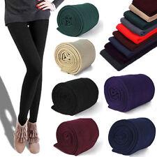 Women Winter Thermal Thick Warm Fleece lined Stretch Pants Skinny Slim Leggings