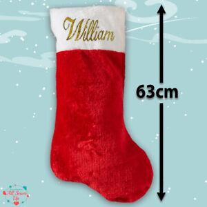 Luxury Personalised Christmas Stocking -  Super size - 63cm