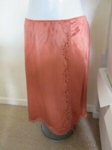 Vintage ladies orange half slip underskirt petticoat size medium
