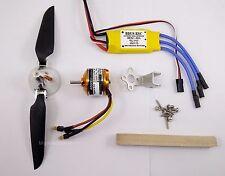 PGK630:1 set BL Motor(KV2400),6x3 Folding Prop.& 30A BL ESC Kit for RC Glider