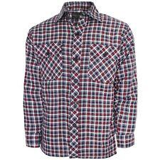 Mens Long Sleeve Casual Check Print Smart Cotton Work Flannel Shirt M-xxl White Black Red - Euro XL