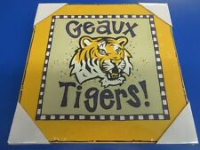 "LSU Geaux Tigers Logo Canvas NCAA College Print Art Poster Wall Decor 12""x12"""