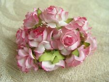 10 Luxury mulberry rose size 3 cm NO 1/card embellishments assorted