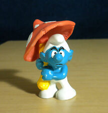 Smurfs Orange Mushroom Umbrella Grouchy Smurf Applause Vintage Figure Toy 20118