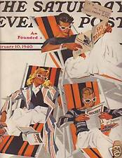 1940 Saturday Evening Post Feb 10-Gene Tunney; Lincoln