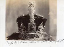 Angleterre, Londres, Couronne Impériale à la Tour de Londres, 1902, vintage silv