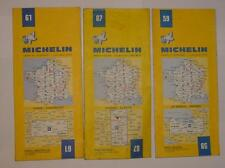 Lot de 3 anciens plans Michelin # 59 / 61 / 87 - Vintage Michelin Road Maps