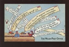 Wales The Welsh Post Office Comic artist early Valentine PPC