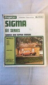 Mitsubishi Sigma GE Series service Manual by Gregory's No.116A